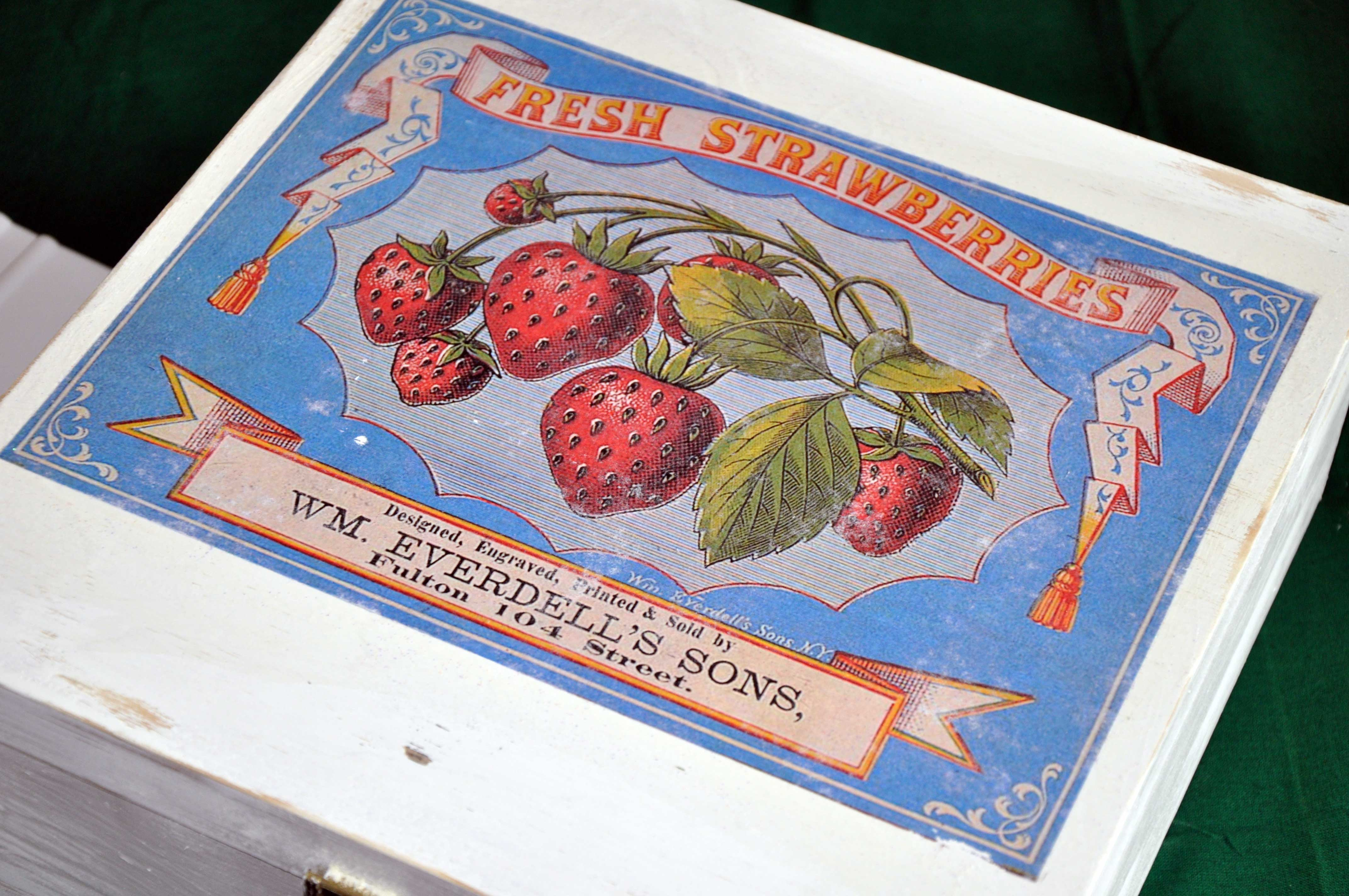 Shabby chic heute wird mit erdbeeren gebastelt for Foto potch ideen