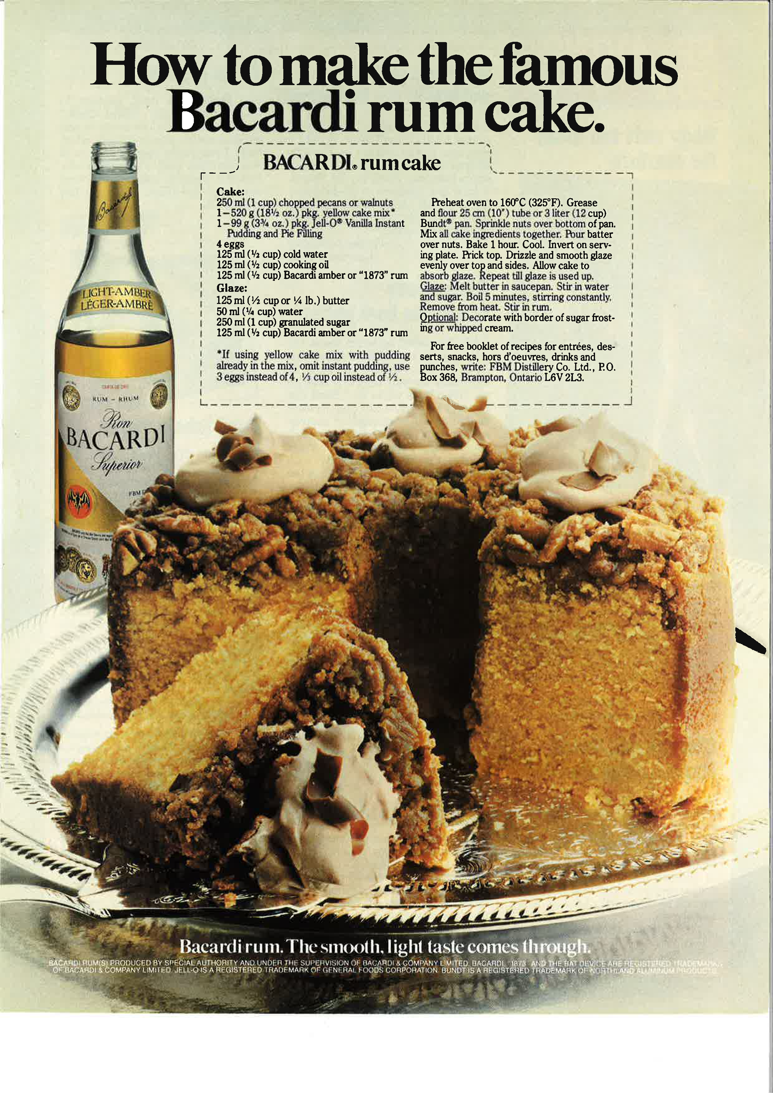 Bacardi Rum Cake. Oder wenn zwei Freundinnen Unsinn treiben ...